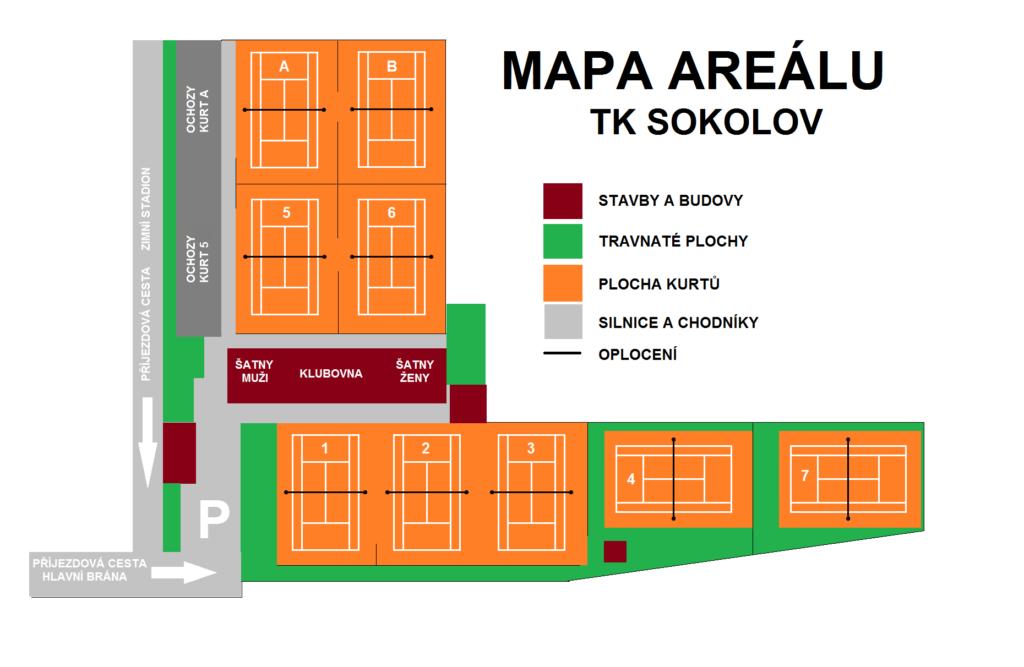 Mapa areálu TK Sokolov